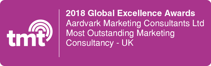 Aardvark Marketing Consultants | TMT Globsal excellence award 2019 for UK's outstanding marketing consultancy