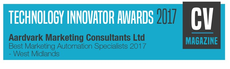 Aardvark Marketing Consultants Ltd | Technology Innovator award 2018 for best Marketing Automation Specialists