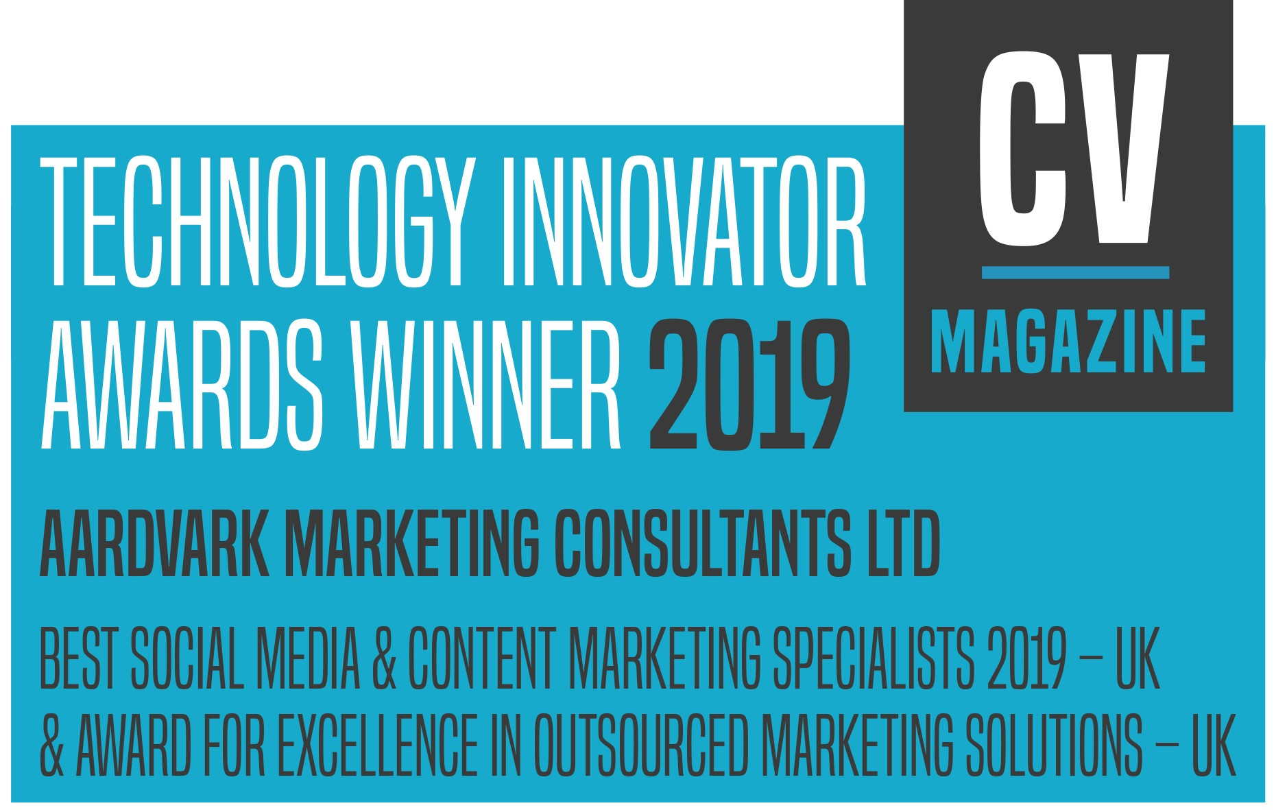Aardvark Marekting Consultants | Technology Innovator 2019 - best socail media and excelelnce in outsourced marketing