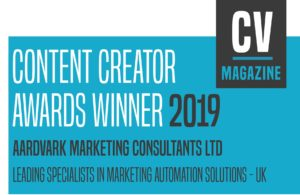 Aardvark Marketing Consultants | Contetn Cretator award 2019 - leading specialists in marketing automation solutions