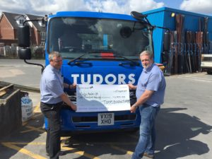 Aardvark Marketing Consultants Ltd | Tudor Building Supplies donate to Marks mental health marathon