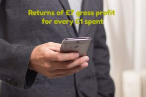 Aardvark Marekting Consultants | SMS delivers £7 gross profit for every £1 spent