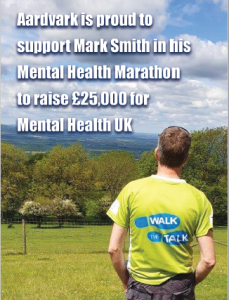 Aardvark Marketing support Mark's Mental Health Marathon