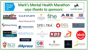 Mark's Mental Health Marathon sponsors