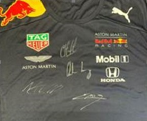 Aardvark Marketing Consultants | detail of the Red Bull signed shirt
